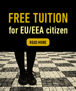 Free tuition for EU and EEA citizen. Read more here