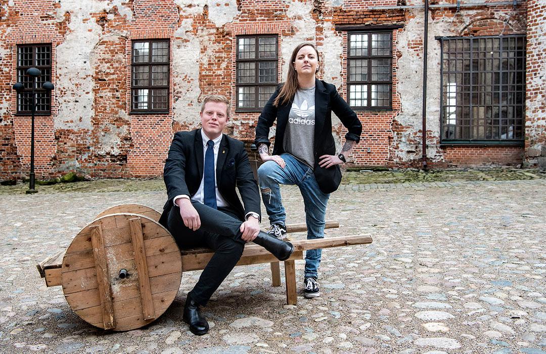 Rikke Møller Hansen og Niklas Vogt Johnsen
