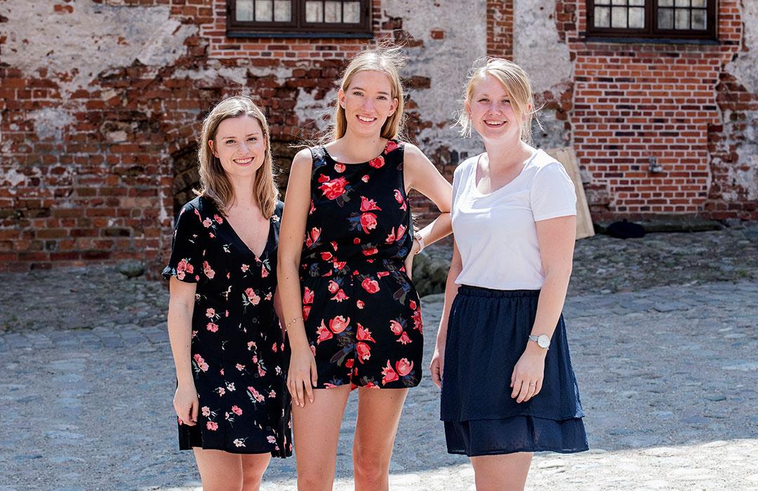 Irene Benthin (t.v.), Kerstin Ryborg Sørensen (i midten) og Lise Duemose Schneider