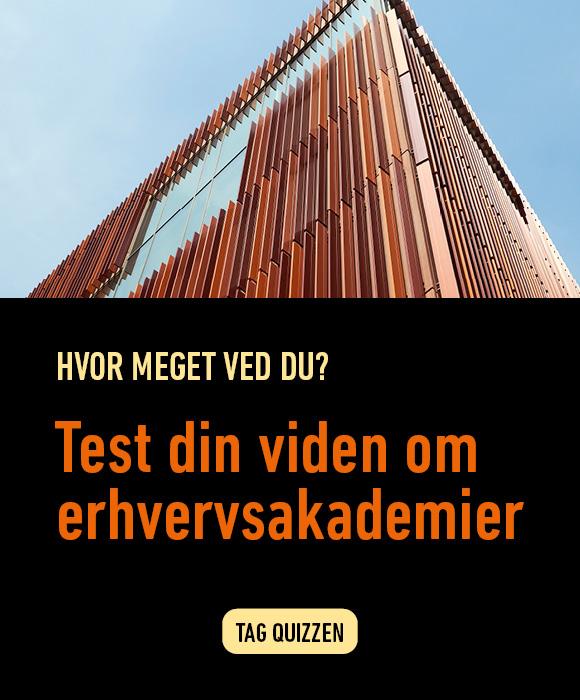 Du kan teste din viden om erhvervsakademier. Prøv testen her.