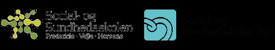 LOGOER: Social- og Sundhedsskolen Syd og Social- og Sundhedsskolen Fredericia, Vejle, Horsens