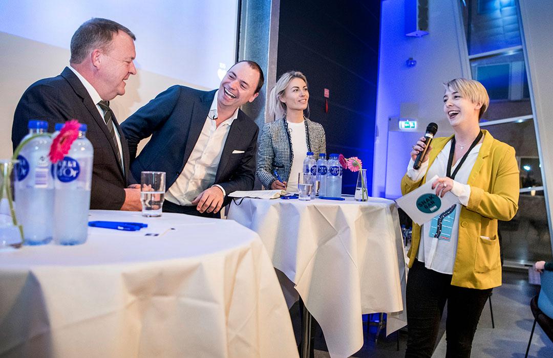 Her ses Lars Løkke Rasmussen, Tommy Ahlers og Birgit Aaby.